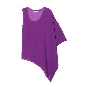 Helmut Lang Tops - HELMUT LANG Asymmetric One Sleeve Silk Top Blouse